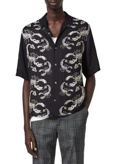 ALLSAINTS Skorpio Short Sleeve Button-Up Camp Shirt