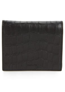 ALLSAINTS Small Keel Croc Embossed Leather Wallet