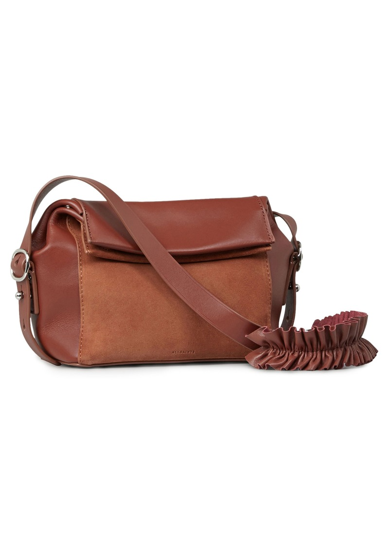 Allsaints Small Maya Calfskin Crossbody Bag