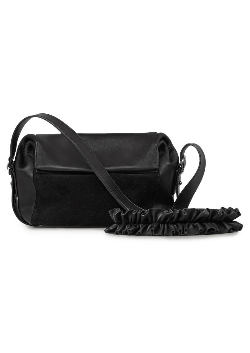 search for authentic shopping promo code AllSaints ALLSAINTS Small Maya Calfskin Crossbody Bag | Handbags