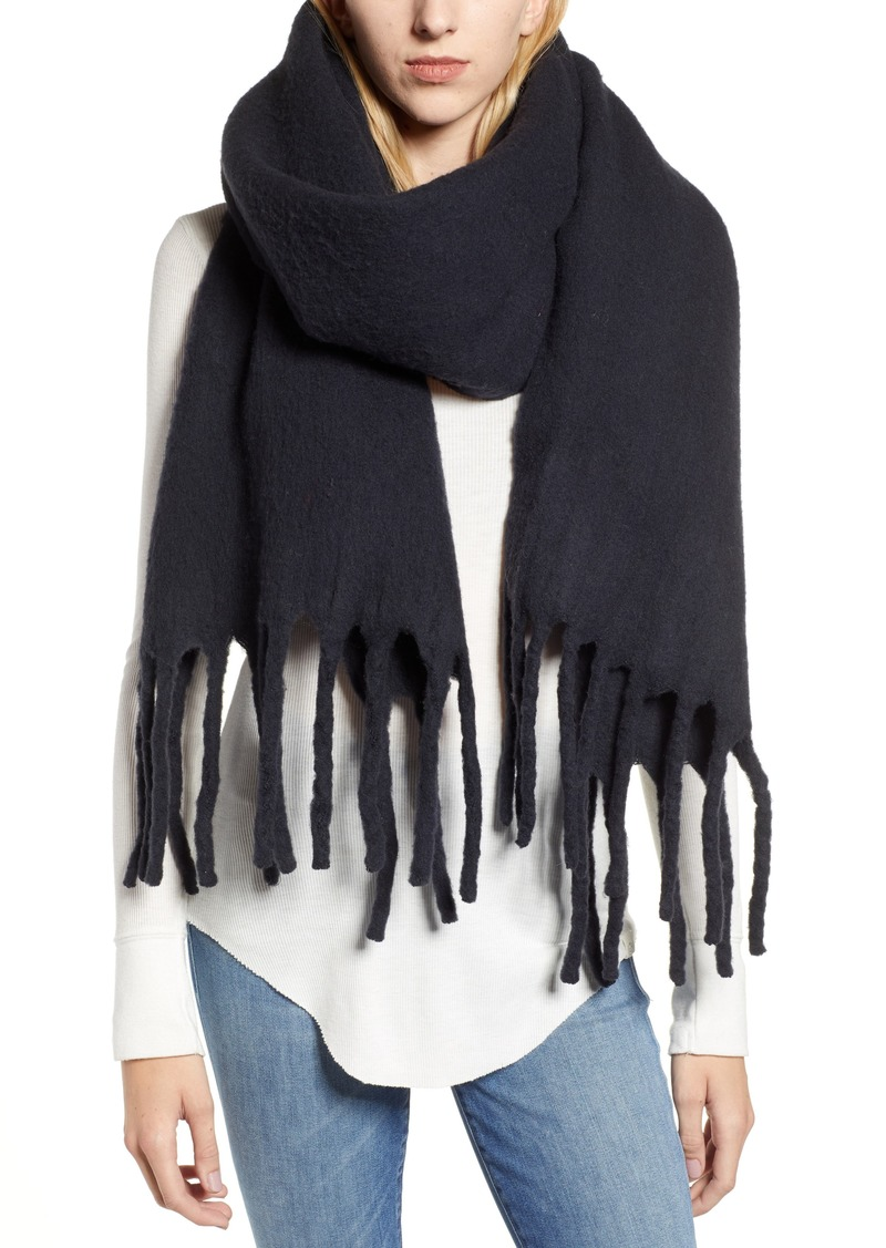 ALLSAINTS Solid Brushed Wool Blanket Scarf
