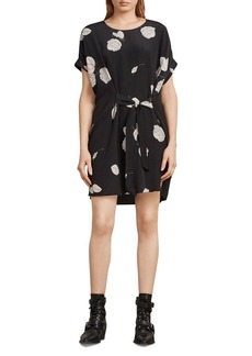 ALLSAINTS Sonny Rodin Tie-Front Silk Dress