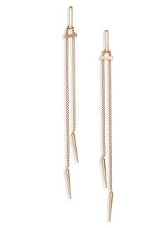 ALLSAINTS Spike Linear Chain Earrings