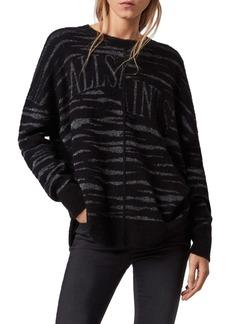 ALLSAINTS Split Saints Tiger Sweater