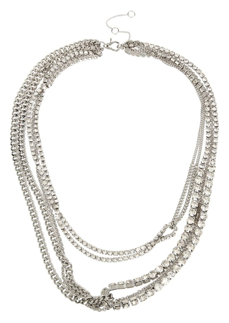 """ALLSAINTS Stone Layered Necklace, 17""""-20"""""""