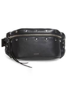 ALLSAINTS Studded Leather Belt Bag