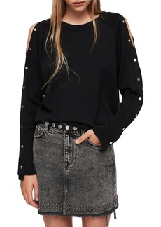 ALLSAINTS Suzie Snap Sleeve Sweater
