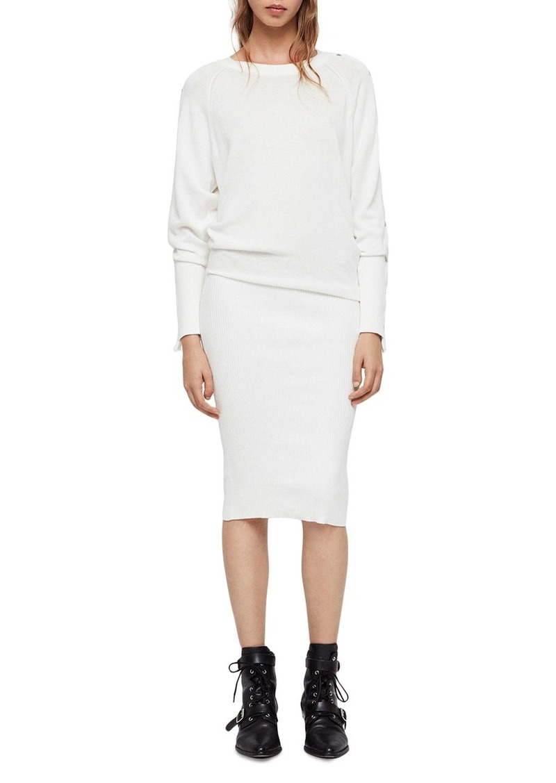 ca58276a60 AllSaints ALLSAINTS Suzie Snap-Sleeve Sweater Dress