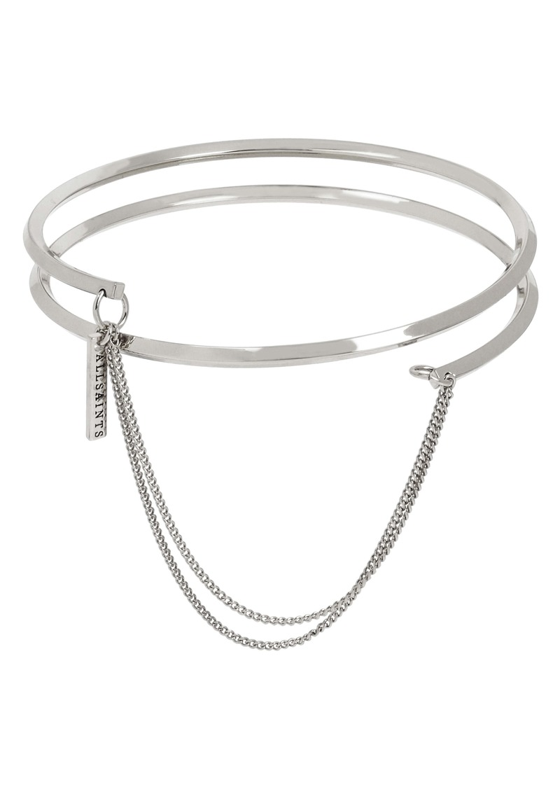 ALLSAINTS Swag Detail Bangle Bracelet