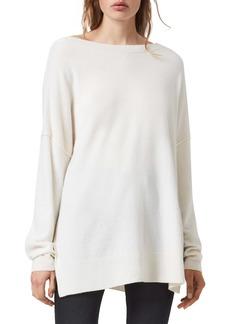 ALLSAINTS Tara Rib Detail Recycled Cashmere & Wool Sweater