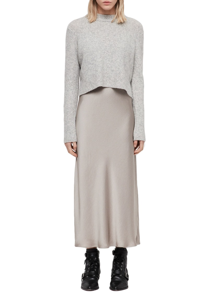 f889cb4a5860 AllSaints ALLSAINTS Tierny Two-Piece Sweater & Slipdress   Dresses