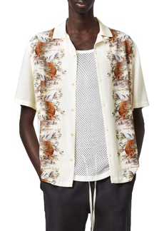 ALLSAINTS Timor Relaxed Fit Short Sleeve Button-Up Camp Shirt