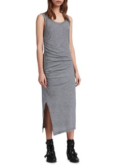 ALLSAINTS Tina Stripe Linen & Cotton Midi Dress