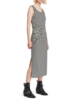 ALLSAINTS Tina Stripe Midi Dress