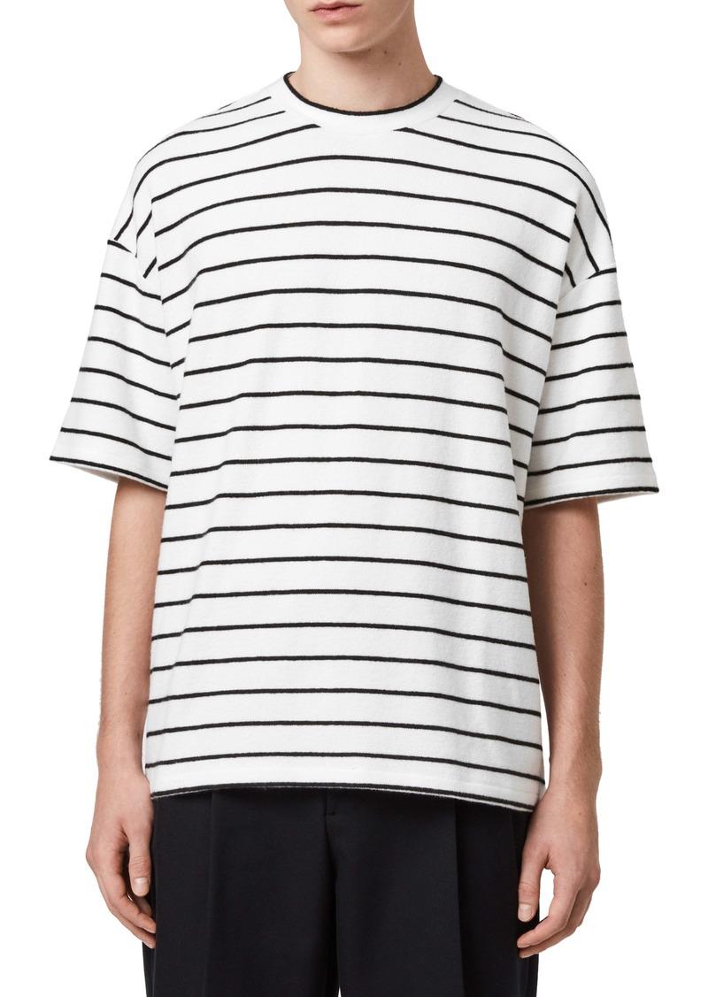 ALLSAINTS Tobias Stripe Long Sleeve T-Shirt