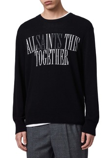ALLSAINTS Together Intarsia Crewneck Wool Sweater