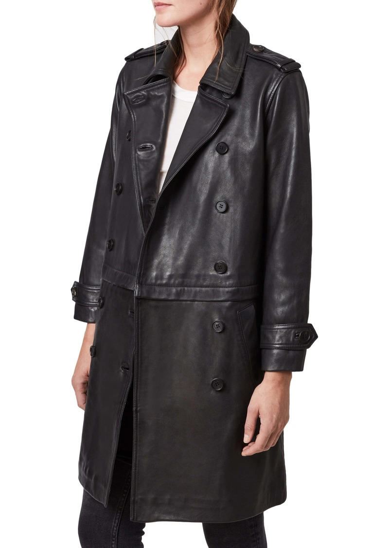 ALLSAINTS Trae Convertible Leather Coat