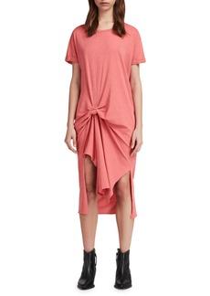 ALLSAINTS Trivia Ida Knot T-Shirt Dress