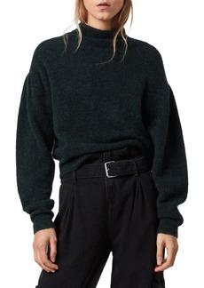 ALLSAINTS Vika Puff Sleeve Turtleneck Sweater