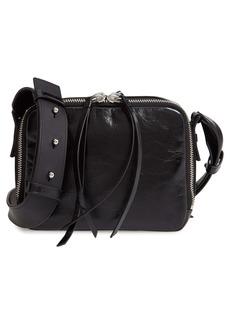 ALLSAINTS Vincent Shiny Leather Crossbody Bag (Nordstrom Exclusive Color)