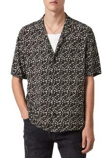 ALLSAINTS Vinyl Short Sleeve Button-Up Shirt