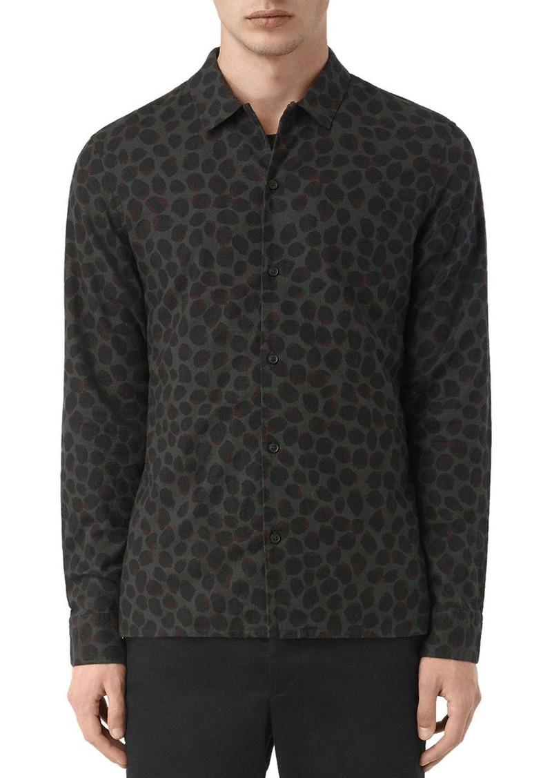 AllSaints ALLSAINTS Waka Slim Fit Button-Down Shirt | Casual ...