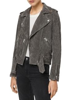 ALLSAINTS X Balfern Star Suede Biker Jacket - 100% Exclusive
