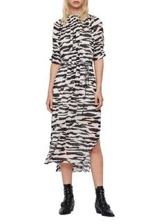ALLSAINTS Xena Zephyr Midi Dress