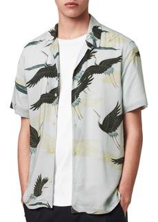 ALLSAINTS Yonder Slim Fit Short Sleeve Button-Up Shirt