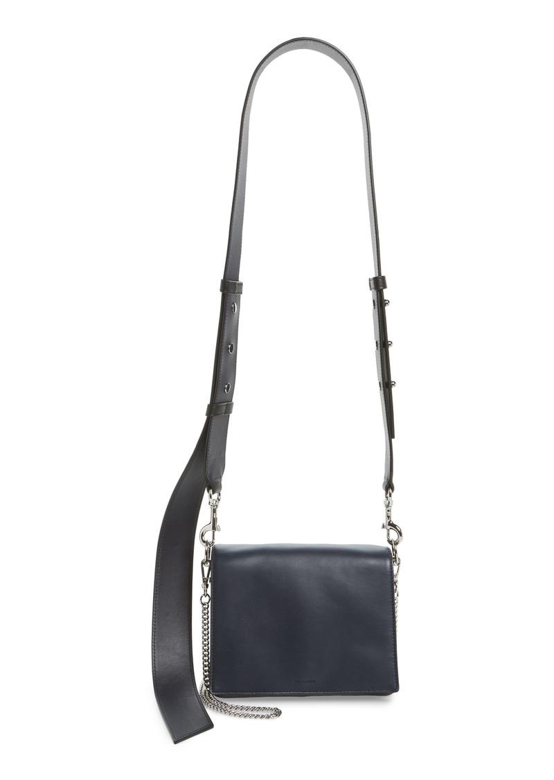 8c7f8ac1dd5e AllSaints ALLSAINTS Zep Lambskin Leather Shoulder Bag
