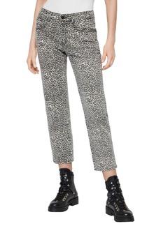 AllSaints Ava Crop Straight Leg Jeans (Leopard)