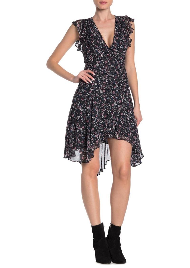 AllSaints Caris Floral Draped Dress
