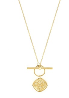AllSaints Coin & Toggle Pendant Necklace