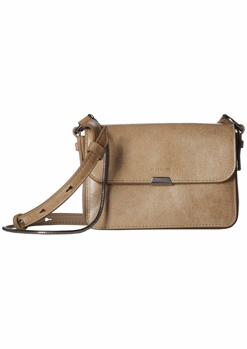 AllSaints Glitz Mini Flap Crossbody