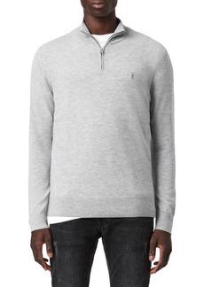 Men's Allsaints Kilburn Wool Blend Half-Zip Pullover