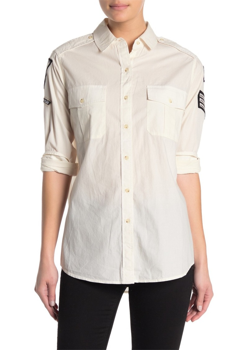 AllSaints Patch Military Shirt