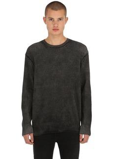 AllSaints Quarter Crew Cotton Sweater