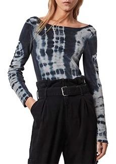 AllSaints Raffi Velvet Tie-Dye Bodysuit