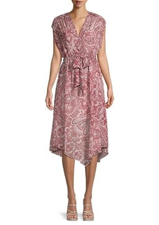 AllSaints Romina Paisley-Print Scarf Dress