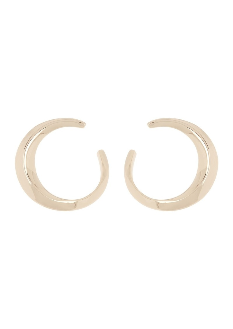 AllSaints Sculptural Hoop Stud Earrings