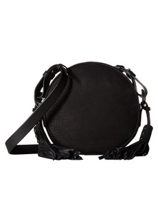 AllSaints The Kepi Leather Round Crossbody