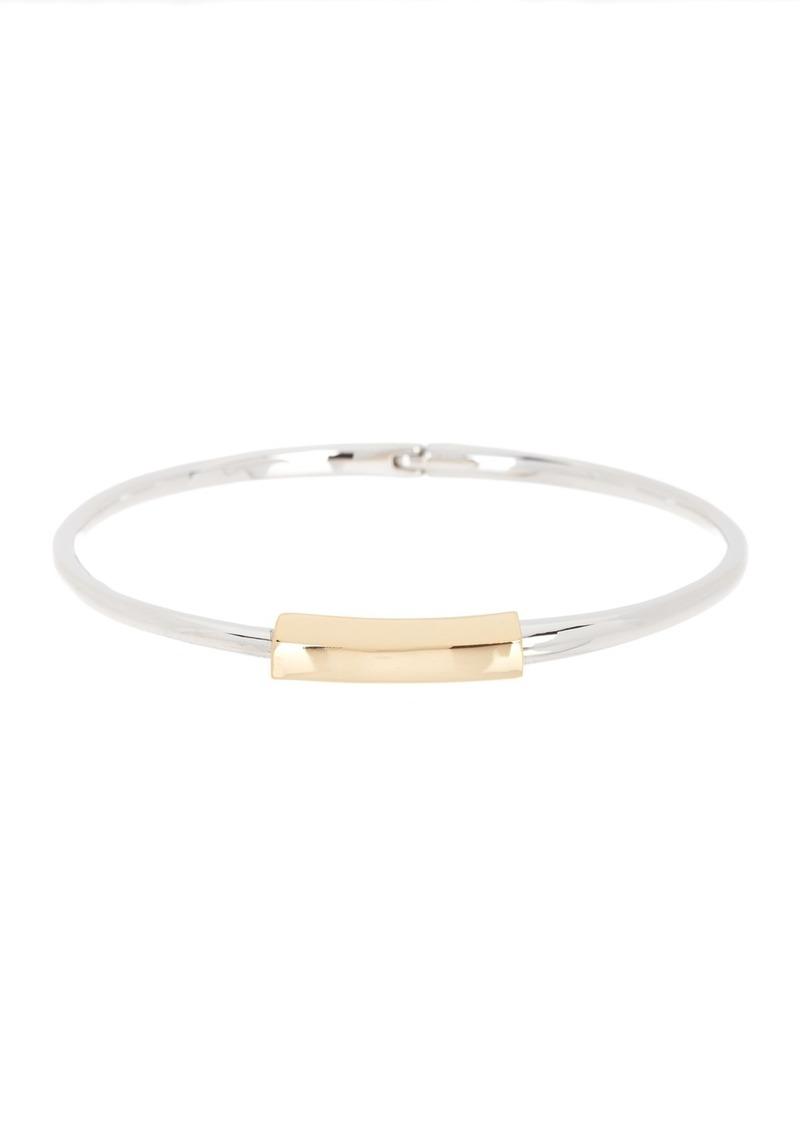 AllSaints Two-Tone Bar Hinged Bangle Bracelet