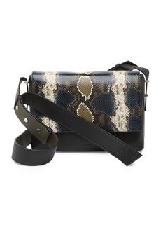 AllSaints Versailles Snakeskin Embossed Shoulder Bag