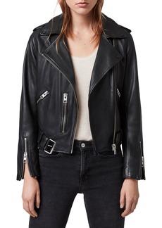 Women's Allsaints Balfern Leather Biker Jacket