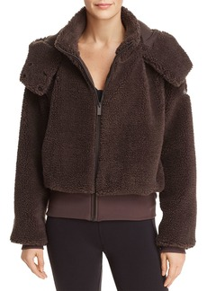 Alo Yoga Foxy Sherpa Fleece Hooded Jacket