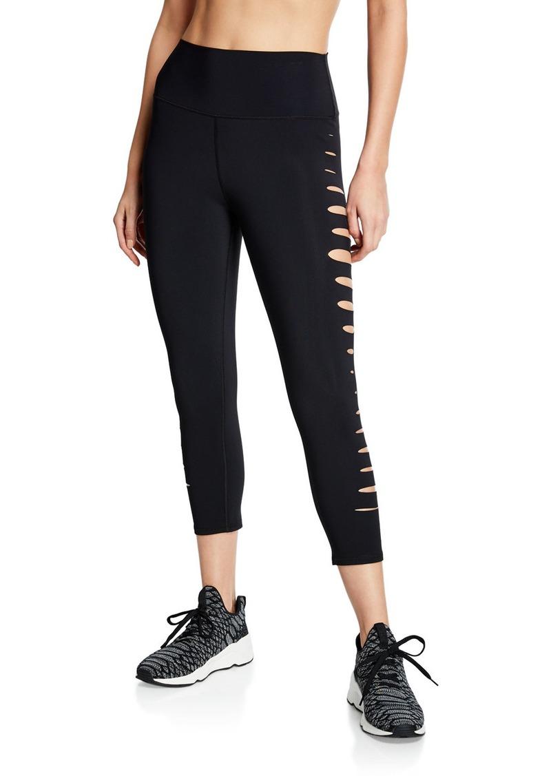 Alo Yoga High-Waist Side Sliced Capri Leggings