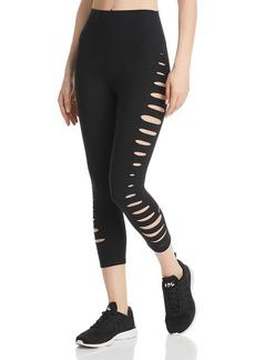 Alo Yoga High-Waist Slice Cutout Cropped Leggings