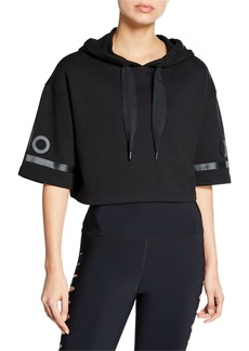 Alo Yoga Jersey Cropped Short-Sleeve Pullover Hoodie