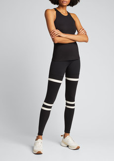 Alo Yoga Legit Striped High-Waist Active Leggings
