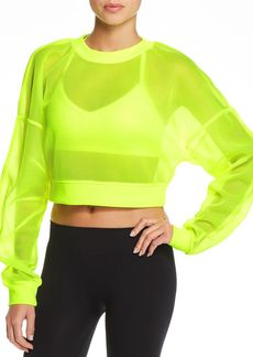 Alo Yoga Row Mesh Cropped Top